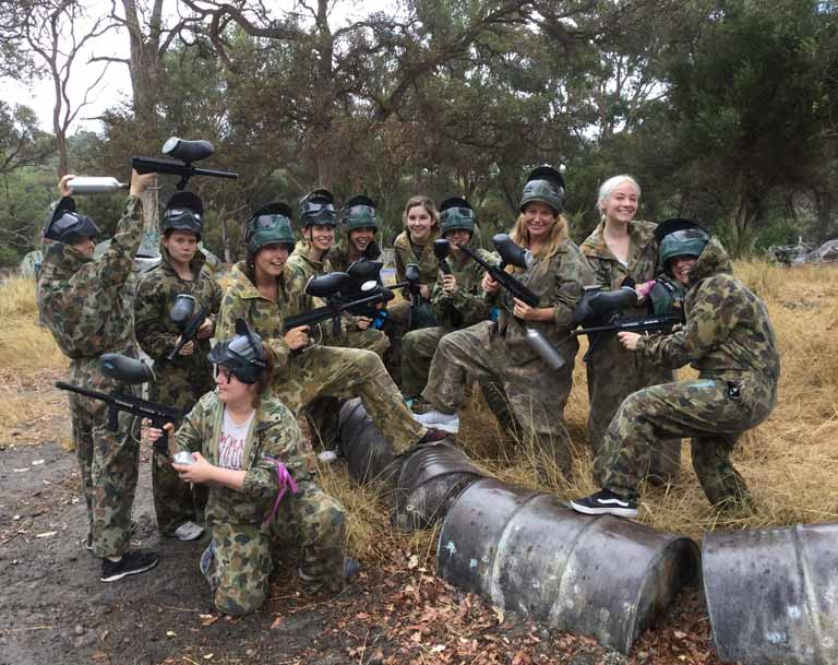 Corporate team building Paintball Perth